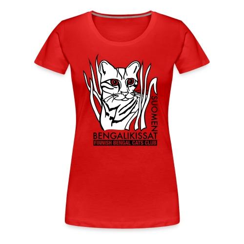 Bengalilogo vaalealle - Naisten premium t-paita