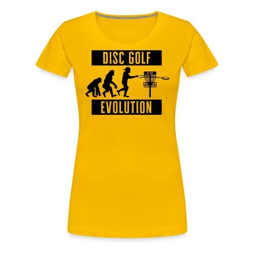 Disc golf - Evolution - Black - Naisten premium t-paita