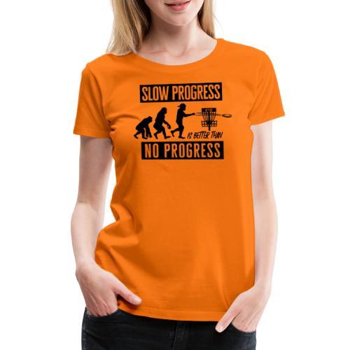 Disc golf - Slow progress - Black - Naisten premium t-paita