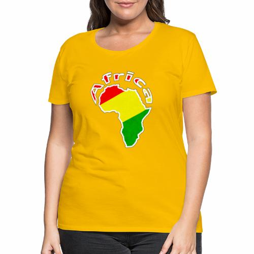 Afrika - rot gold grün - Frauen Premium T-Shirt