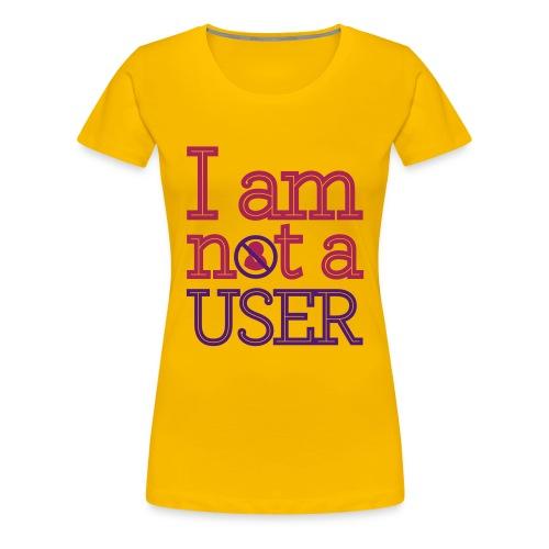 I AM NOT A USER RED - Women's Premium T-Shirt