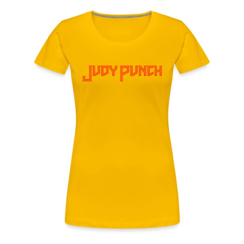 Judy Punch text - Women's Premium T-Shirt