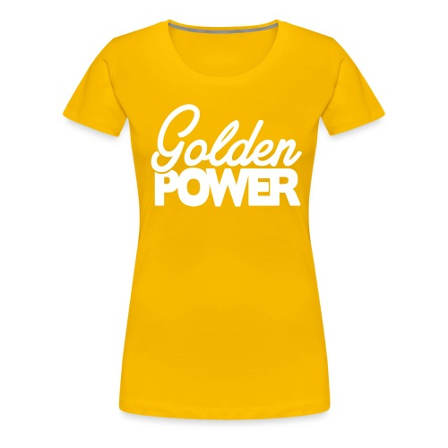 GoldenPower Logo V2 white png - Vrouwen Premium T-shirt