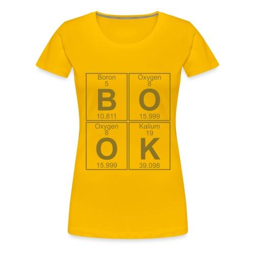 B-O-O-K (book) - Full - Women's Premium T-Shirt