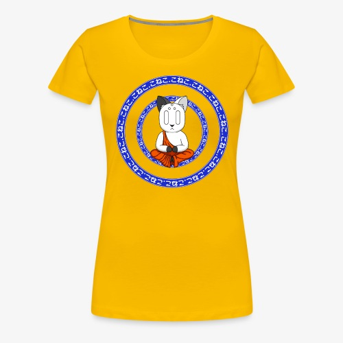 Buddh-cat blue - T-shirt Premium Femme