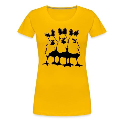 threeevilchicks - Vrouwen Premium T-shirt