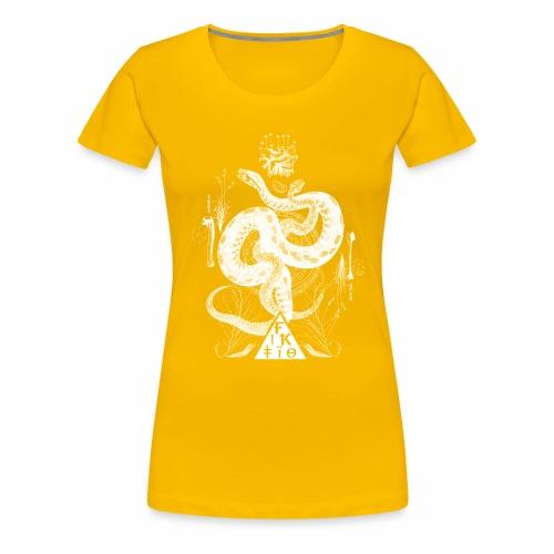 Fiktio käärmeprintti - Naisten premium t-paita