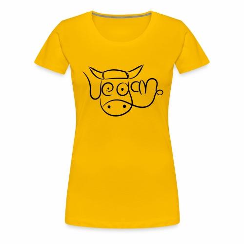 vegan kuh - Frauen Premium T-Shirt