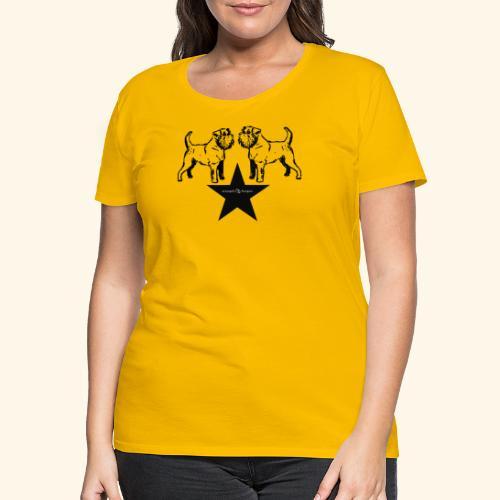 Brussels Griffon Logo - T-shirt Premium Femme