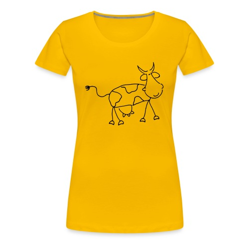 Happy Comic Cow - Frauen Premium T-Shirt