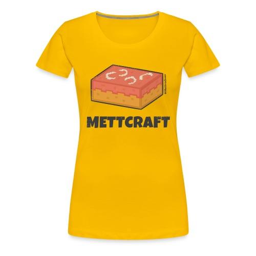 Mettcraft - Mett in feinster Pixel-Optik - Frauen Premium T-Shirt
