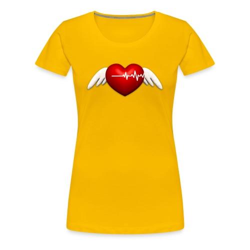 Lebensretter Herz mit Flügel - Frauen Premium T-Shirt