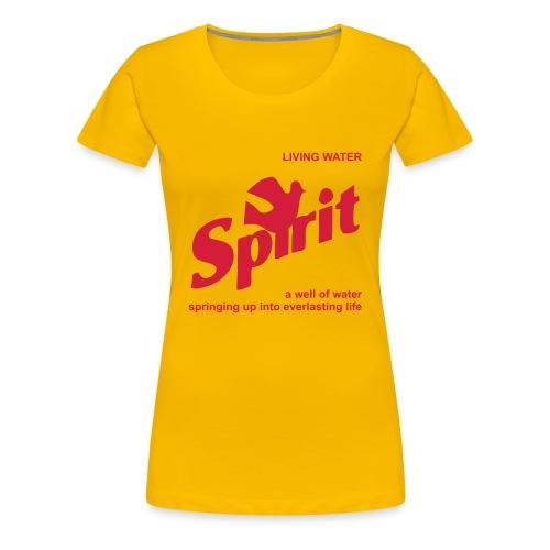 Living Water (JESUS-shirts) - Women's Premium T-Shirt