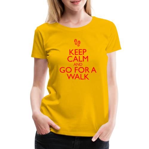 Keep Calm and Go For A Walk - red - Women's Premium T-Shirt