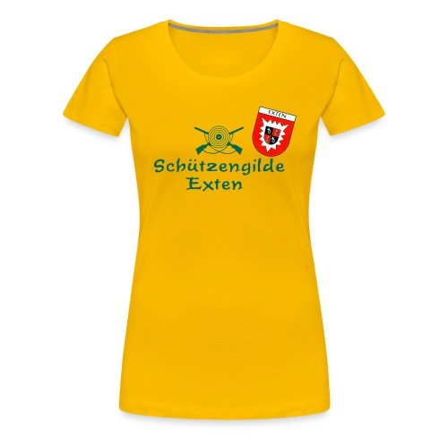 Schützengilde Exten mit Wappen - Frauen Premium T-Shirt