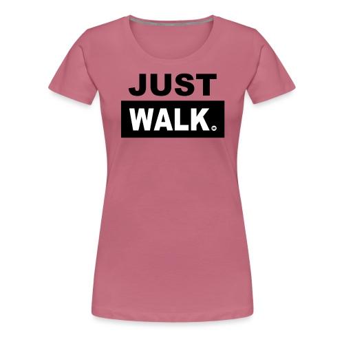 JUST WALK vrouwen colour - Vrouwen Premium T-shirt