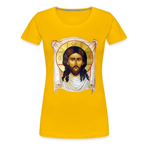 Low-Poly Jesus Icon - Women's Premium T-Shirt