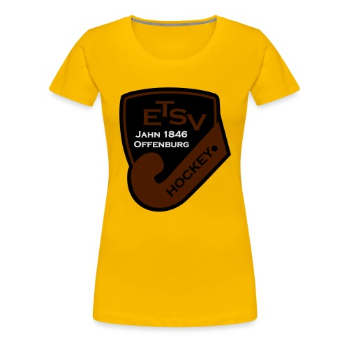 ETSV Hockey Logo 3-farbig - Frauen Premium T-Shirt