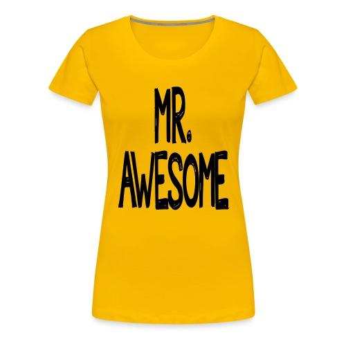 mr awesome - Koszulka damska Premium