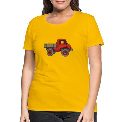 Roter Lastwagen, LKW, Laster - Frauen Premium T-Shirt