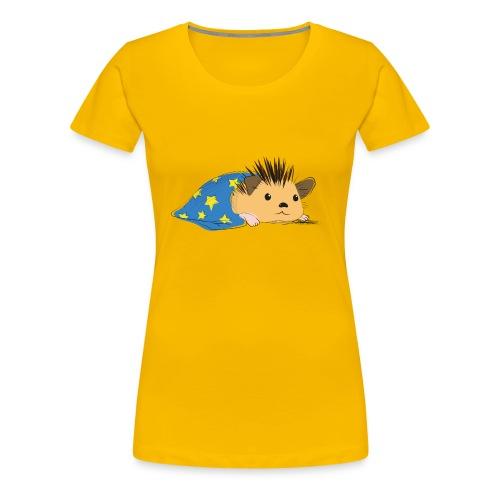 Porcospino che riposa nella copertina (colorato) - Maglietta Premium da donna