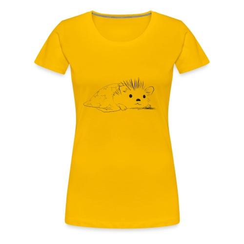 Porcospino carino che riposa nella copertina - Maglietta Premium da donna