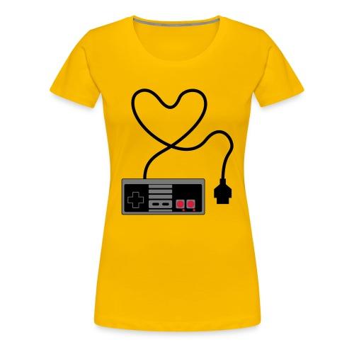 NES Controller Heart - Women's Premium T-Shirt