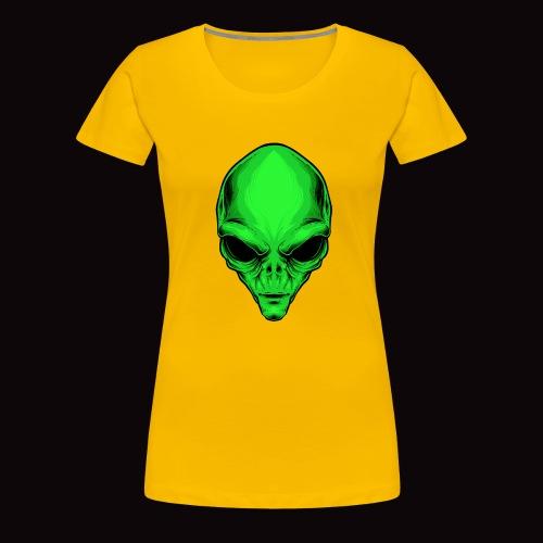 alien reptiliano - Camiseta premium mujer