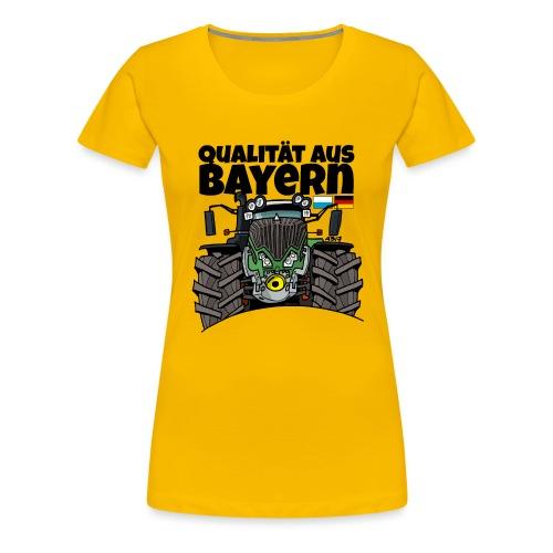 Qualitaet aus Bayern F def - Vrouwen Premium T-shirt