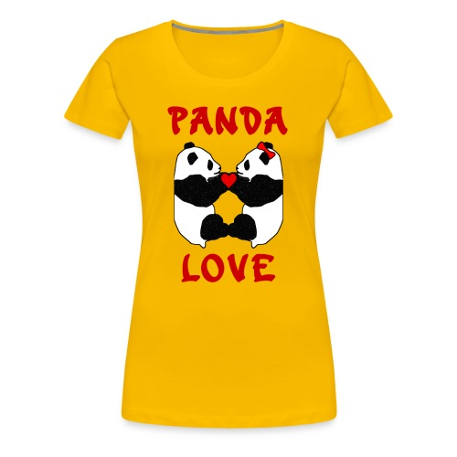 Panda Love - Women's Premium T-Shirt