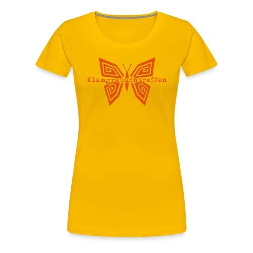 KlangRauschTreffen Schmetterling mit Schrift - Frauen Premium T-Shirt