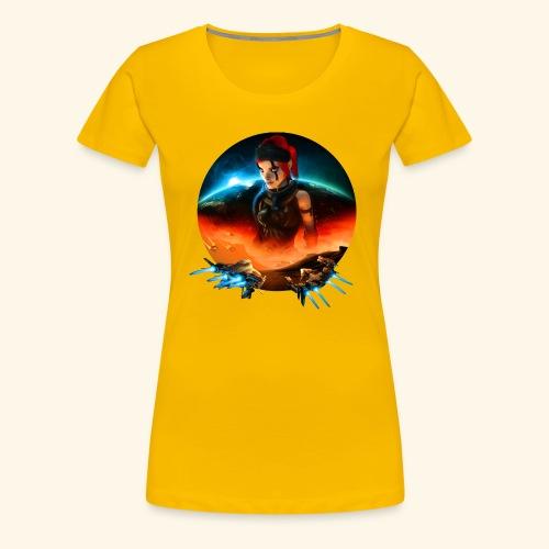 Pirate Galaxy Poster - Frauen Premium T-Shirt