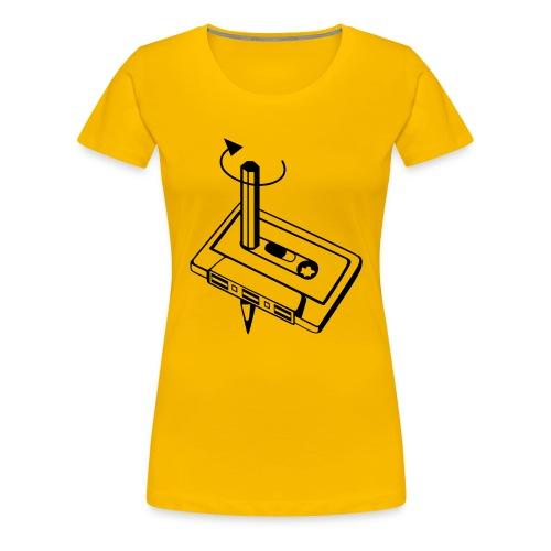 Kassette Spul doch mal zurück - Frauen Premium T-Shirt