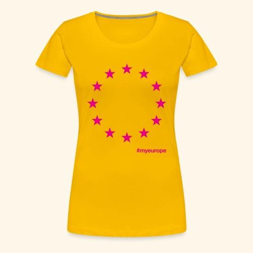 #myeurope pink - Frauen Premium T-Shirt