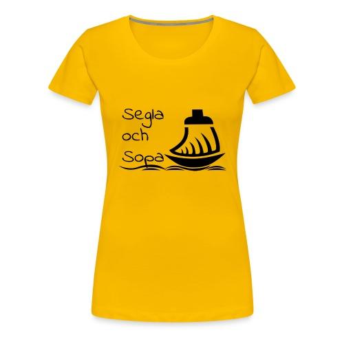 Segla och sopa Black - Women's Premium T-Shirt