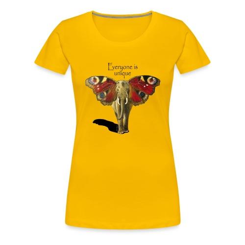 Everyone is unique – Schmettefant - Frauen Premium T-Shirt