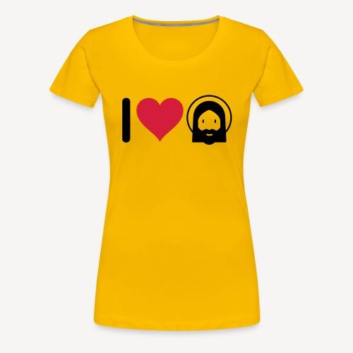 I LOVE JESUS - Women's Premium T-Shirt