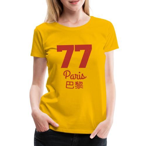 77 paris - Frauen Premium T-Shirt