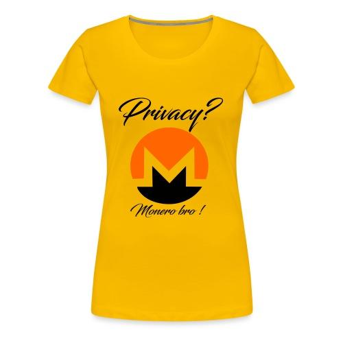 Moneroooo - T-shirt Premium Femme
