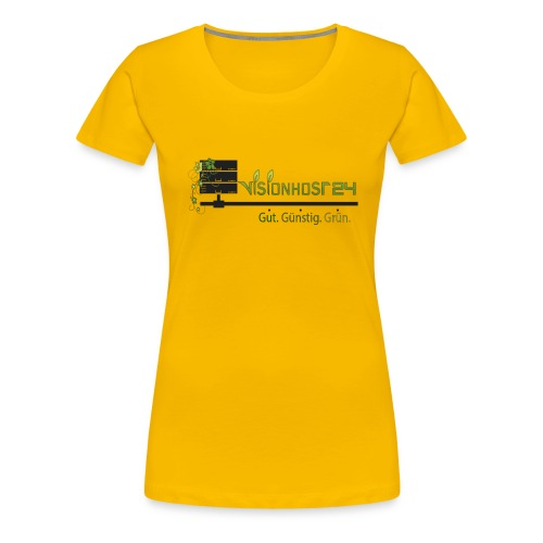 Visionhost24 Logo groß - Frauen Premium T-Shirt