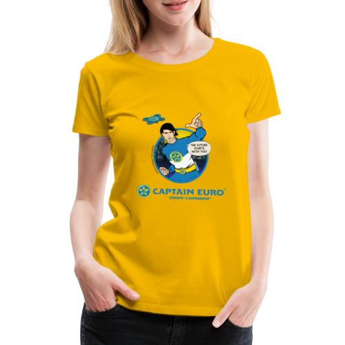 THE FUTURE STARS WITH YOU! circle blue - Women's Premium T-Shirt