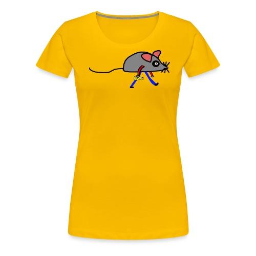 Maus mit Käse Lustiges Motiv - Frauen Premium T-Shirt
