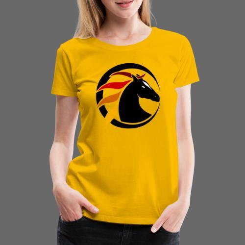 Buntes Pferdelogo - Frauen Premium T-Shirt
