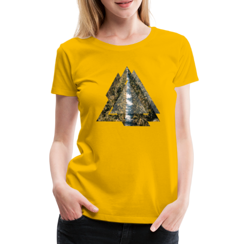 Triangle Tropical Palm Street - Frauen Premium T-Shirt