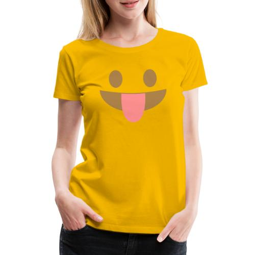 Emoji face with tongue out - Women's Premium T-Shirt