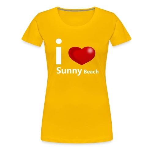 I love Sunny Beach 2 (white print) - Women's Premium T-Shirt
