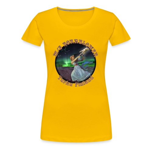Turku mustareuna - Naisten premium t-paita