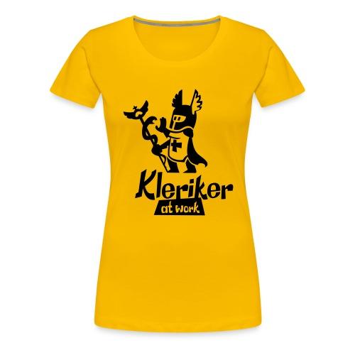 kleriker at work - Frauen Premium T-Shirt