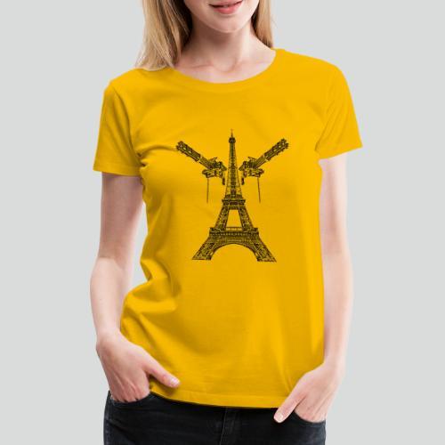 Tour Eiffel Armée (noire) - T-shirt Premium Femme