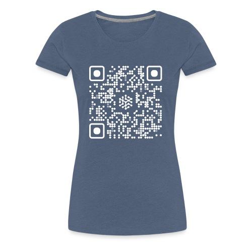 QR Safenetforum White - Women's Premium T-Shirt